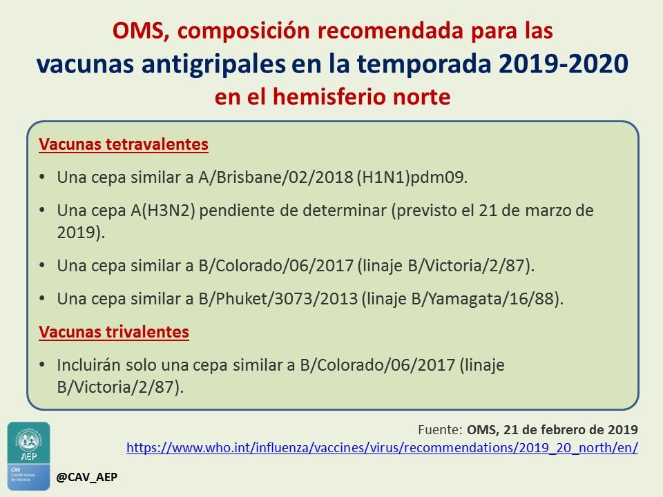 Calendario De Vacunacion 2020.Composicion De La Vacuna Antigripal Para 2019 2020 Comite Asesor