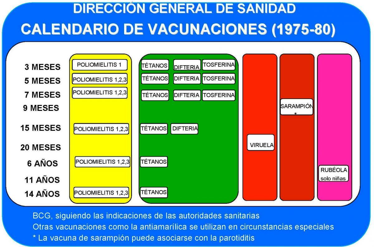 1978 Calendario.7 Calendarios De Vacunacion En Espana Comite Asesor De